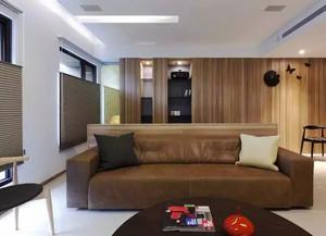 现代风格原木风精致一居室装修效果图案例