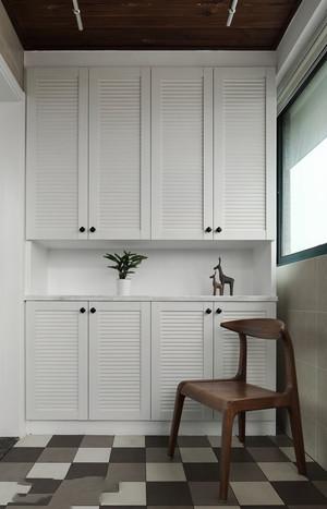现代风格白色精美玄关鞋柜设计效果图