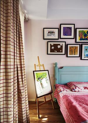 中式混搭风格时尚精装两室两厅室内装修效果图