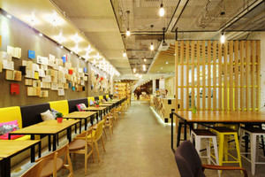 现代简约风格文艺咖啡厅装修效果图