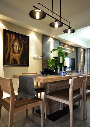 东南亚风格混搭风格两室两厅室内装修效果图