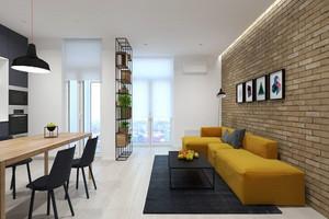 71平米现代简约风格公寓装修效果图赏析