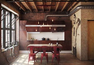 后现代风格时尚创意餐厅装修效果图赏析