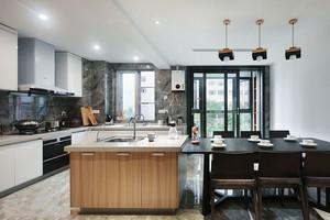 现代简约风格开放式厨房餐厅装修效果图