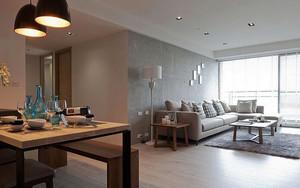 67平米简约风格一居室室内装修效果图案例
