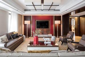 现代风格精致客厅大理石背景墙装修效果图