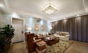 116平米美式风格精装两室两厅装修效果图