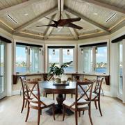 美式风格别墅精美餐厅吊顶装修效果图赏析