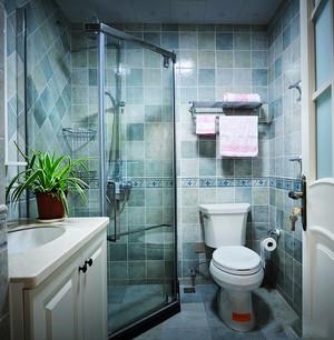 美式风格精装两室两厅室内设计装修效果图
