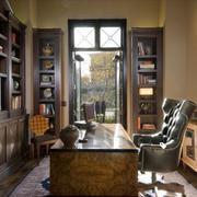 美式风格精致大户型书房装修效果图