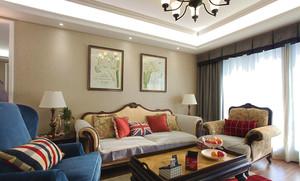 欧式风格精美三室两厅设计装修效果图赏析