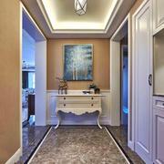 欧式风格大户型精美玄关柜设计效果图
