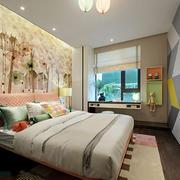 30平米现代风格时尚清新儿童房卧室装修效果图