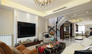 174平米新古典主义风格复式楼装修效果图案例
