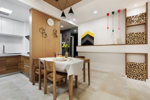 宜家风格原木色餐厅设计装修效果图