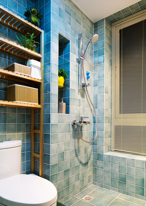 中式风格混搭风格暖色两室两厅室内装修效果图