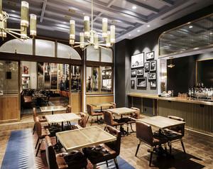 复古风格精致西餐厅设计装修效果图