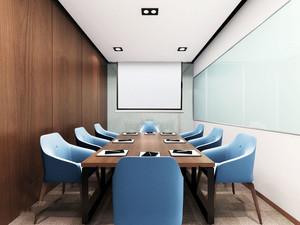 现代风格精装小型会议室装修效果图