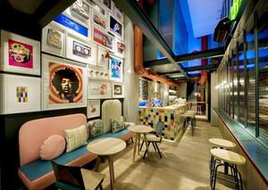 混搭风格时尚咖啡厅设计装修效果图
