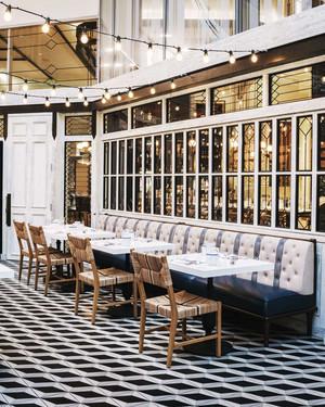 欧式风格精美餐厅卡座装修效果图