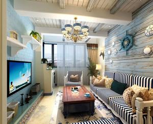 地中海风格海洋元素客厅装修效果图赏析