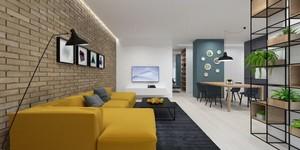 64平米现代简约风格精装单身公寓装修实景图