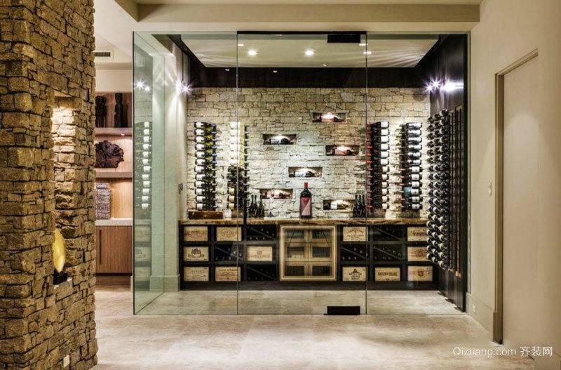 简约风格时尚玻璃酒柜装修效果图赏析