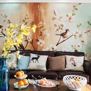 中式风格典雅精美客厅背景墙装修效果图