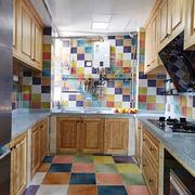 美式风格多彩精致厨房设计装修效果图赏析
