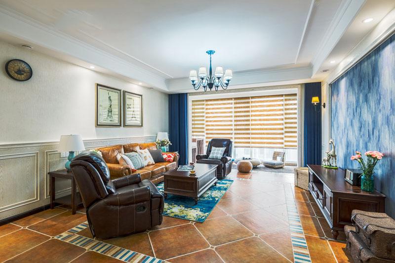 100平米美式混搭风格时尚古典室内装修效果图