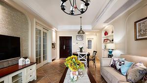 129平米美式风格多彩时尚三室两厅装修效果图