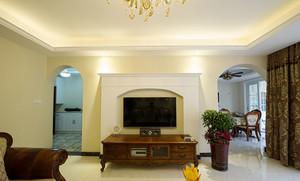 138平米美式风格复古风两室两厅装修效果图赏析
