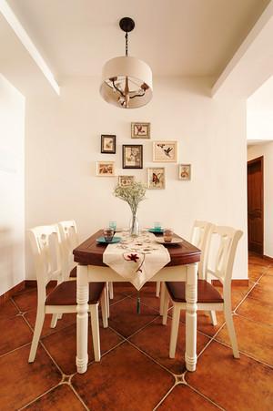 美式田园风格自然清新三室两厅室内装修效果图案例