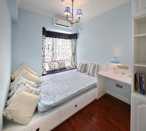 美式风格清新风格榻榻米卧室装修效果图