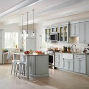 欧式风格浅色精美厨房设计装修效果图