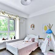 北欧风格时尚清新儿童房设计装修效果图