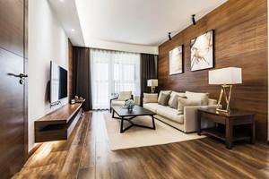 现代风格时尚棕色系客厅设计装修效果图