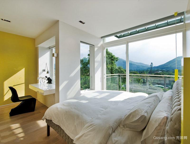 现代简约风格明亮活力卧室装修效果图