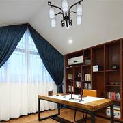 中式风格古典精致书房装修实景图赏析