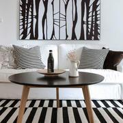 北欧风格时尚黑白客厅装修效果图