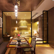 后现代风格时尚餐厅卡座设计装修效果图