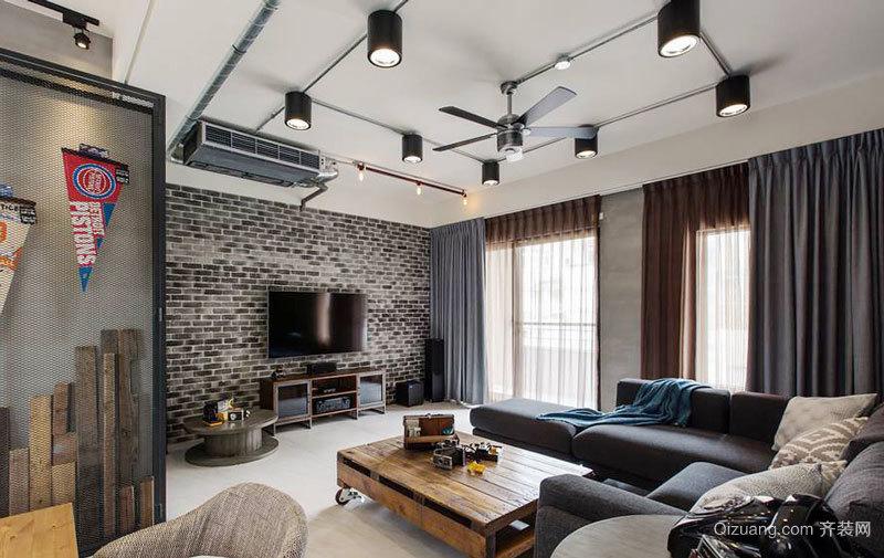 后现代风格创意客厅电视背景墙装修效果图赏析