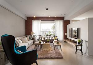 87平米简欧风格混搭时尚两室两厅装修效果图