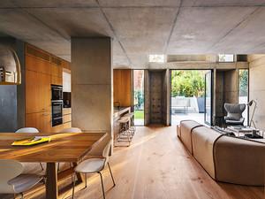 179平米现代风格原木色别墅装修效果图