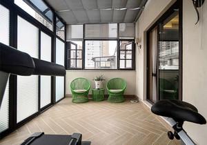新中式风格大户型封闭式阳台装修效果图赏析
