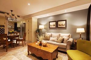 美式风格两室两厅一卫装修效果图案例