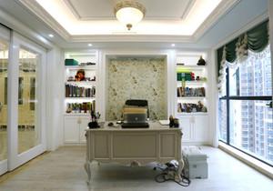 欧式风格淡雅精美书房设计装修效果图