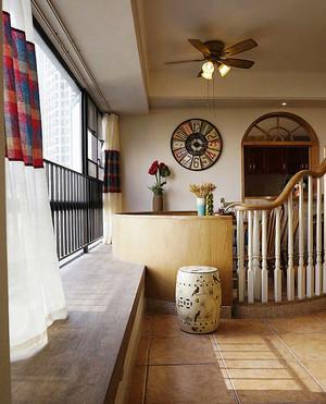 90平米田园风格精美室内设计装修实景图