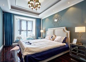新古典主义风格轻奢时尚卧室飘窗装修效果图