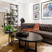 新中式风格大户型客厅博古架装修效果图鉴赏